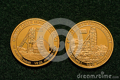 Two One-half Ounce Pure Gold Coins