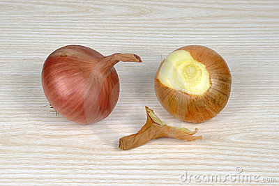 Two onion cloves