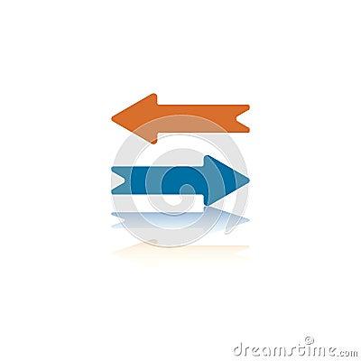 Two Opposite Horizontal Arrows