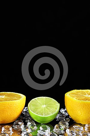 Two orange and lime