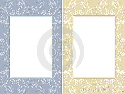 Two ornamental frames