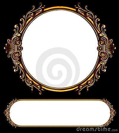 Two ornate retro frames