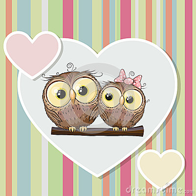 Free Two Owls Royalty Free Stock Image - 50918276
