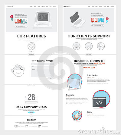 Website Templates Elements For Company Portfolio Vector – Company Portfolio Template