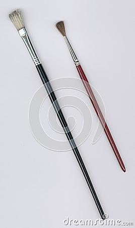 Free Two Paintbrushes Stock Image - 237951