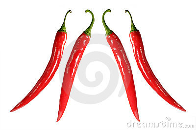 Two pairs of chilies