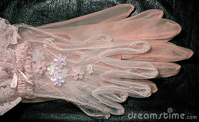Two pairs of pink gloves