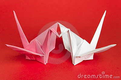 Two paper birds