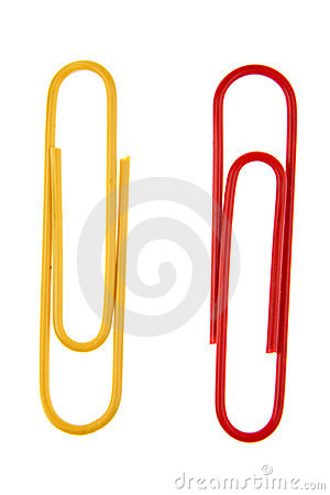 Free Two Paper Clips Royalty Free Stock Photography - 8078247