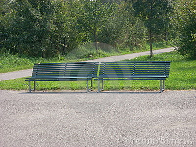 Two park bench