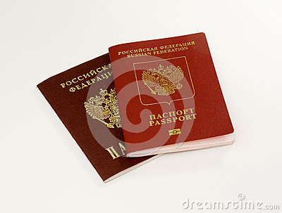 Two passports isolated