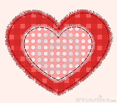 Two patchwork hearts