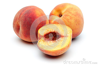 Two Peach and half peach