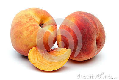 Two Peach and sliced peach