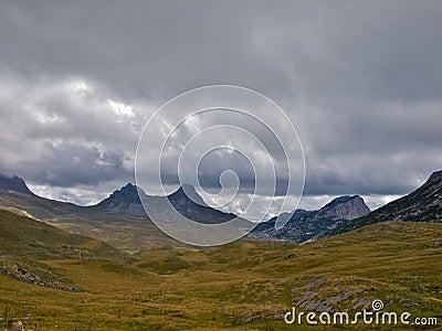 Two peak mountain