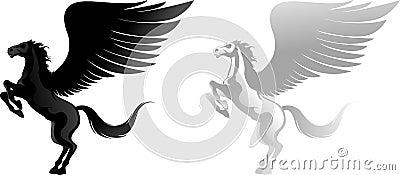 Two pegasus