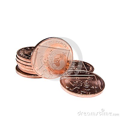 Two pence coins