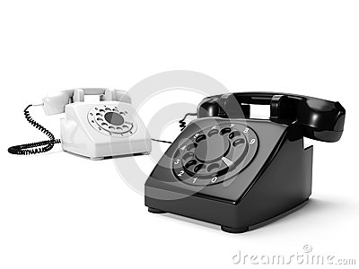 Two phones the black and white
