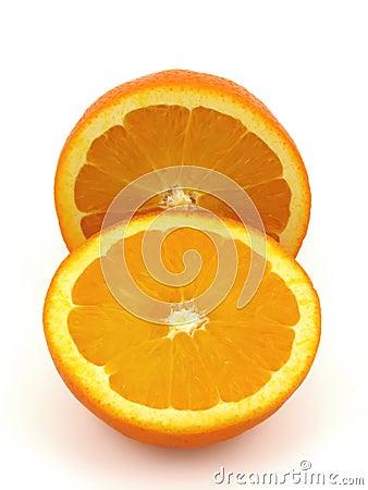 Two piece of Orange fruit