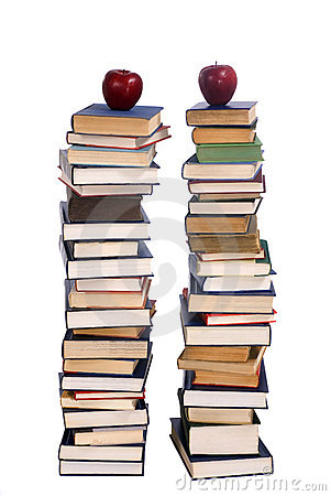 Free Two Piles Of Books Stock Image - 2535681
