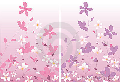 Two pink floral design