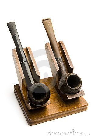 Two pipes in pipe rack