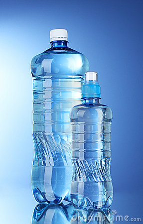 Free Two Plastic Bottles Of Water Royalty Free Stock Photos - 21068568