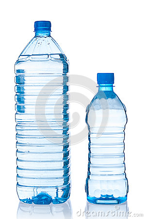 Free Two Plastic Bottles Of Water Royalty Free Stock Images - 66958249