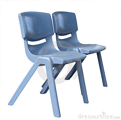 Free Two Plastic Chairs Stock Image - 4868291