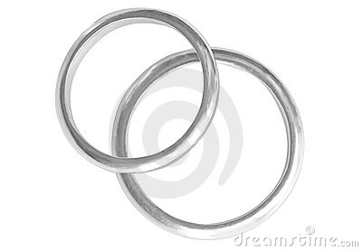 Two platinum Rings