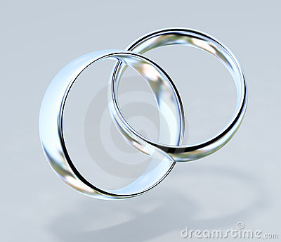 Two platinum wedding rings