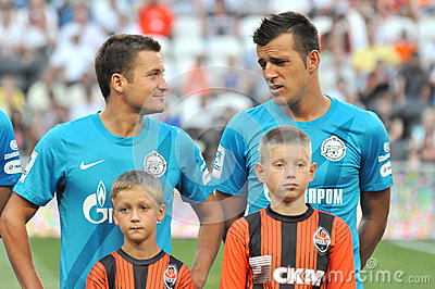 Two players of Zenit Editorial Stock Photo