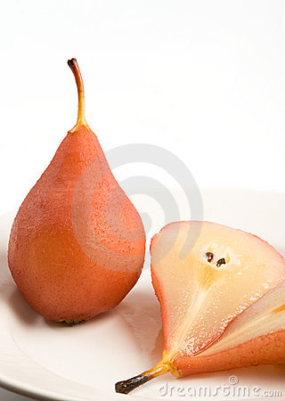 Free Two Poached Pears Stock Images - 2113104