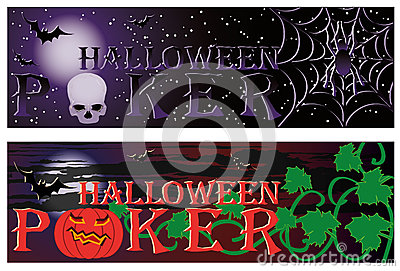 Two Poker halloween banners