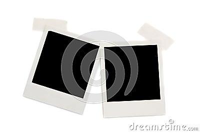 Two polaroid photos