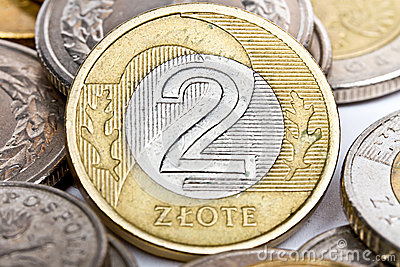 Two Polish zloty coin
