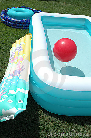 Two pools and a ball