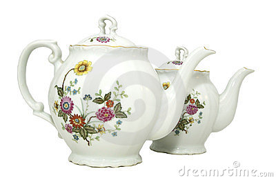 Two porcelain teapot