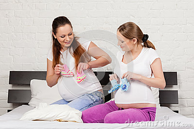 Two pregnant girlfriend