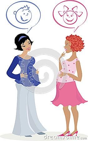 Two pregnant women