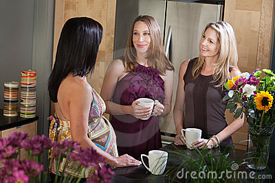 Two Pregnant Women with Friend
