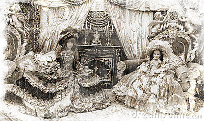Two princesses (vintage style)