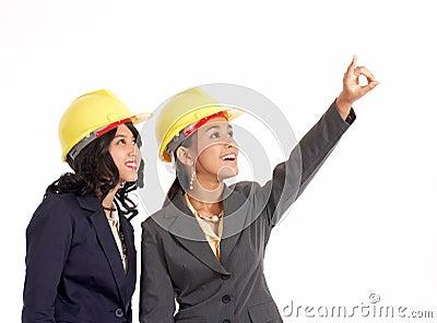 Two professional draftswoman