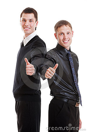Two prosperous young businessmen
