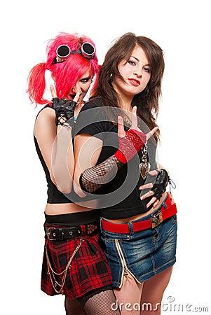 Free Two Punk Girls Royalty Free Stock Photo - 10770995