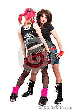 Free Two Punk Girls Royalty Free Stock Image - 10771006
