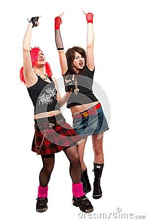 Free Two Punk Girls Stock Photos - 10771013
