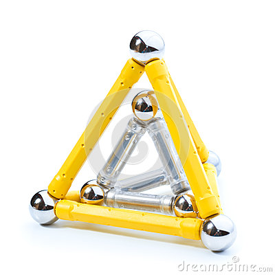 Free Two Pyramides  On White Royalty Free Stock Photography - 28030377