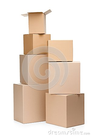 Two pyramids of boxes