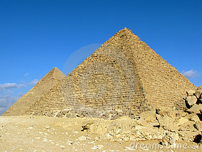 Two pyramids of Giza, Egypt